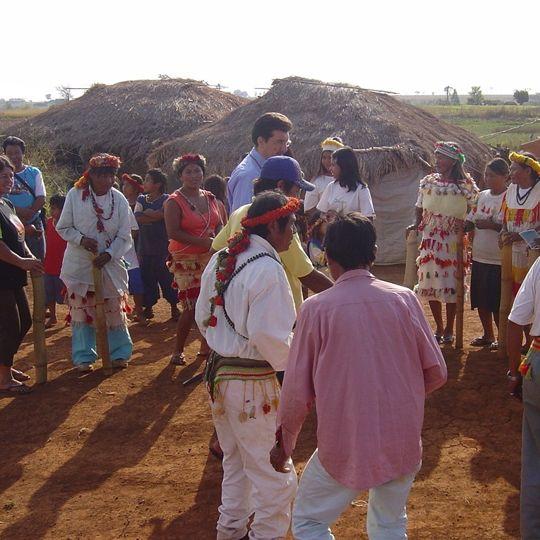 Pedro Kemp participa de Aty Guassu em aldeia indígena de Caarapó