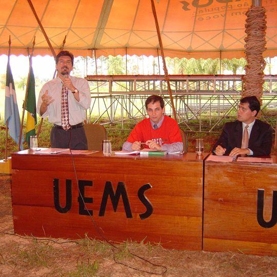 Kemp em debate na UEMS sobre as cotas para negros