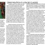 Crise Política e Luta de Classes